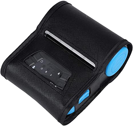 Bluetooth Receipt Printer, Portable Mobile Printer 80mm USB Wireless Personal Bill Thermal Receipt Printer with Leather Case for iOS Android Windows ...