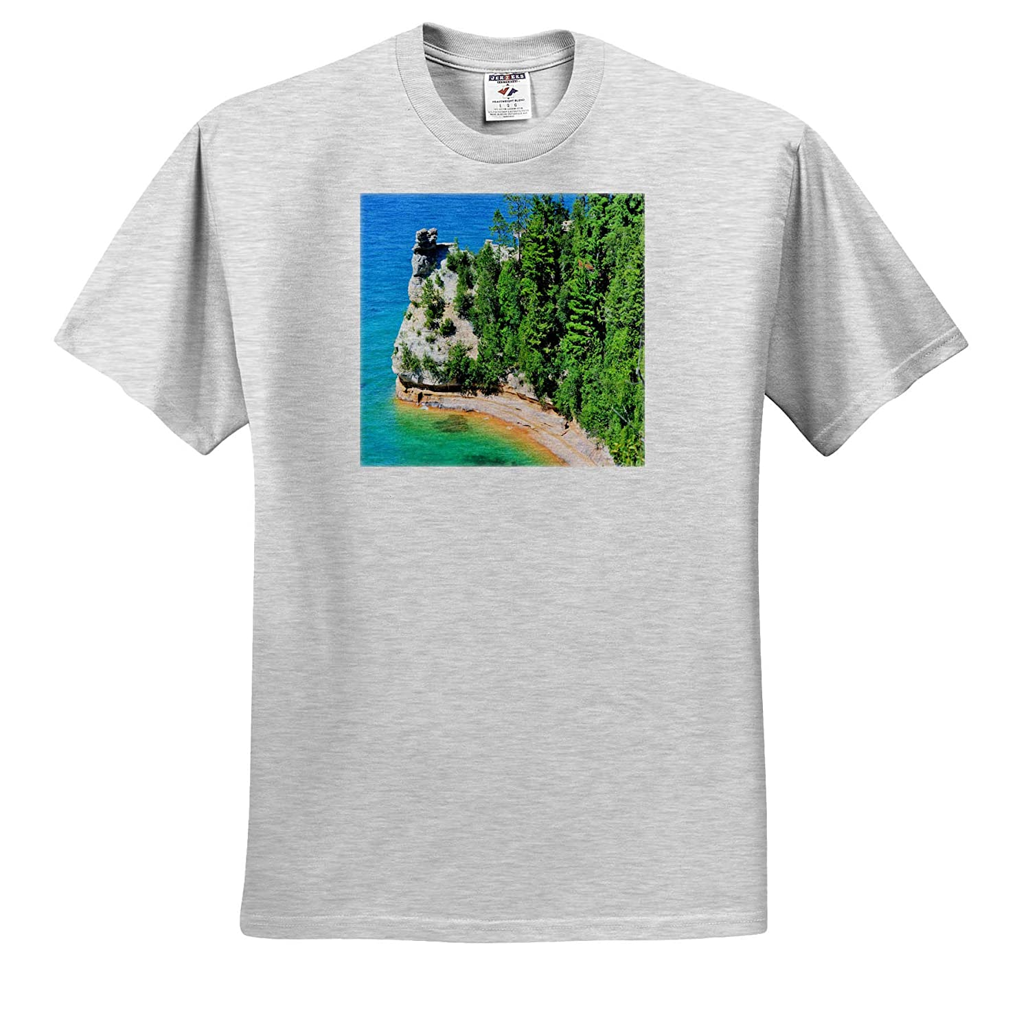 3dRose Dreamscapes by Leslie ts/_314277 Scenery Adult T-Shirt XL Miners Castle