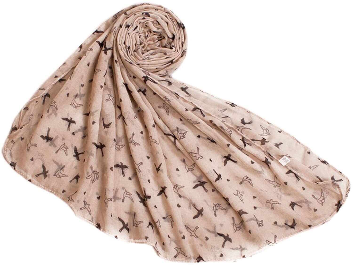 Bettyhome Fashion Girls Swallow Pattern Voile Women's Large Beach Scarf Shawl Lightweight