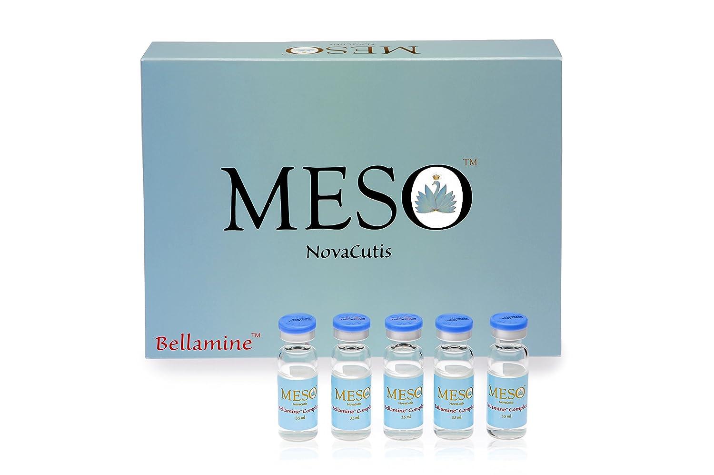 MESO Bellamine Acido ialuronico (15 mg/ml) + 18 amminoacidi + antiossidanti. Complesso professionale per mesoterapia e microneedling. (5 x 3, 5 ml) NovaCutis