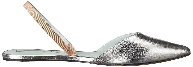 Marc Jacobs Women's Joline Metallic Slingback Ballet Flat B01A2W3YNU 37 M EU / 7 B(M) US|Silver