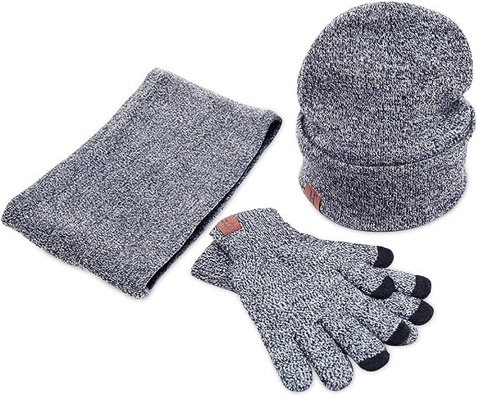 guante de punto Conjunto de 2 piezas con cuello de tubo ideal para el invierno.