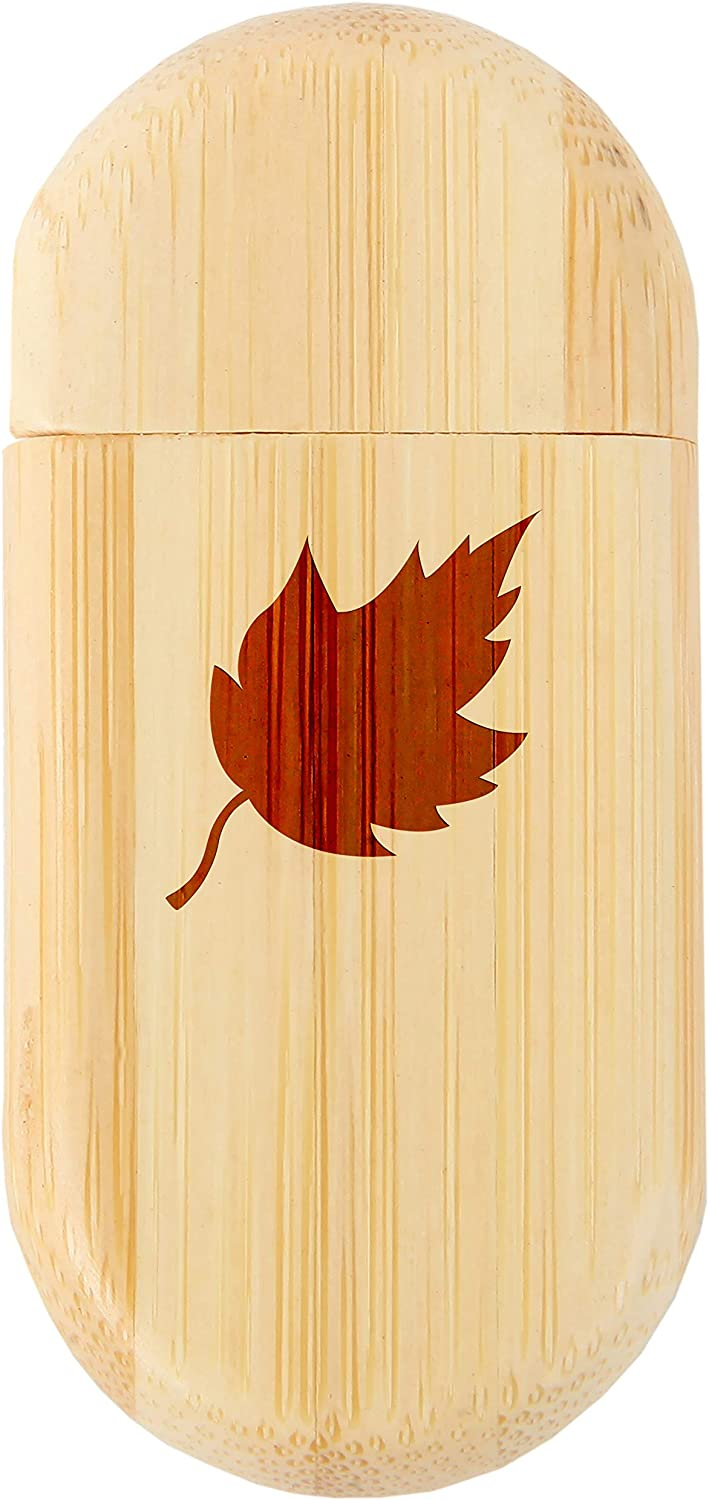 8Gb USB Gift for All Occasions Wood Flash Drive with Laser Engraving Leaf 8Gb Bamboo USB Flash Drive with Rounded Corners