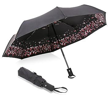 Amazon.com: Paraguas de sol con cierre automático, plegable ...