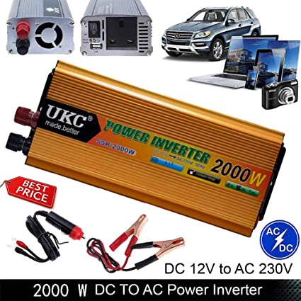 2000W 4000W converter power inverter DC 12V to AC 210V 220V 230V invertor USB