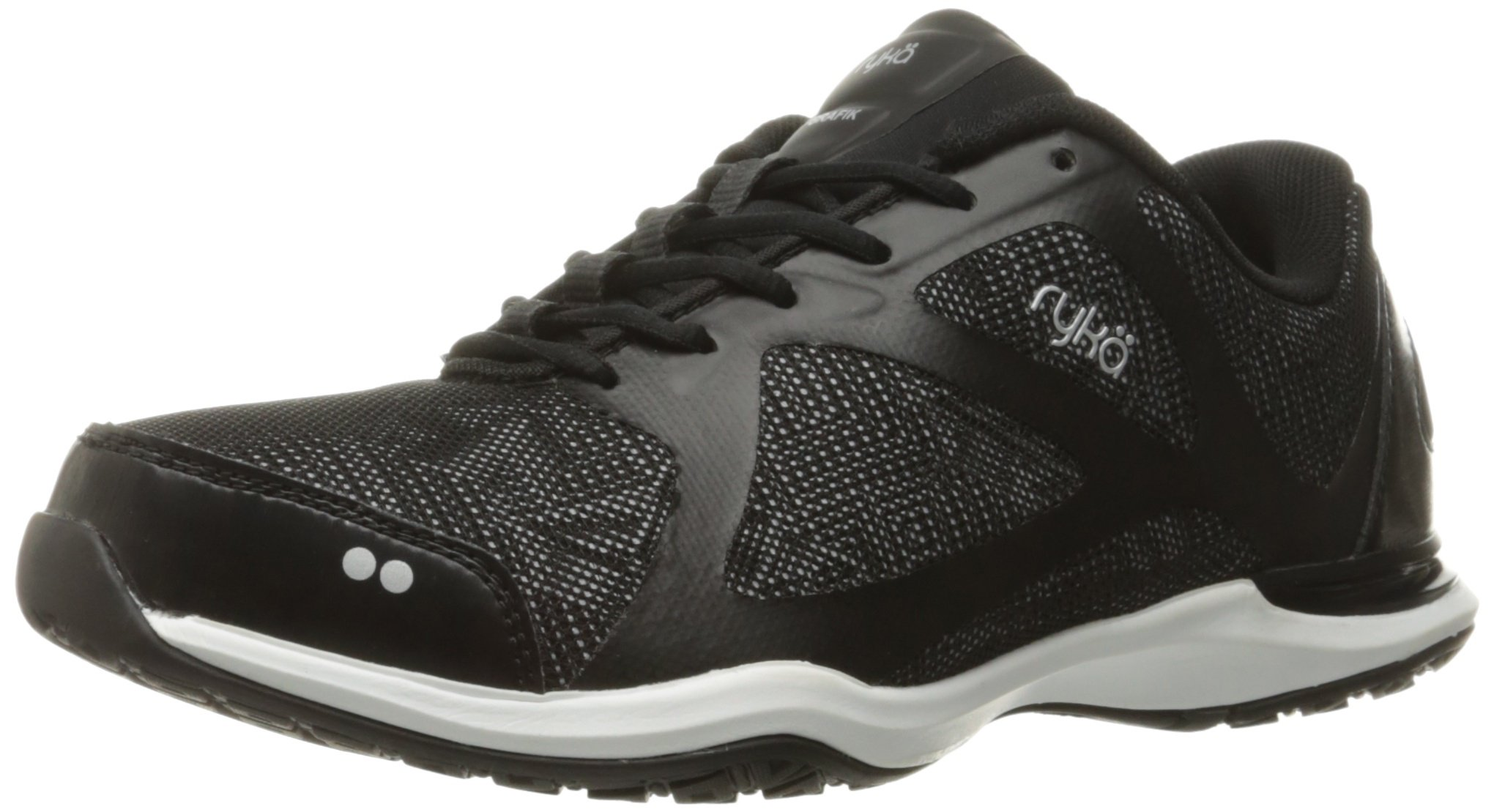 Ryka Women's Grafik Cross-Trainer Shoe, Black/Grey, 9 M US