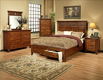 Amanda Home   Marissa County Collection 4 Piece Bedroom Set With Queen Size  Bed, 8