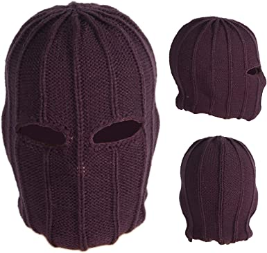 Villain Mask Supervillain Balaclava Cosplay Purple Face Mask Gaiter Hat Anime Beanie Costume Accessories