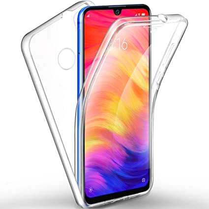 AROYI Funda Xiaomi Redmi Note 7, Ultra Slim Doble Cara Carcasa Protector Transparente TPU Silicona + PC Dura Resistente Anti-Arañazos Protectora Case ...