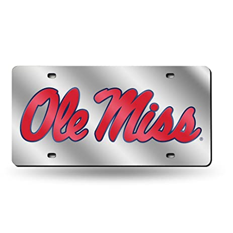 Ole Miss License Plate Tag In Silver Automotive