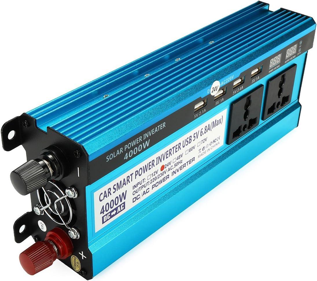 Tutoy 4000w Peak Power Inverter Led Display 12v 24v Dc Bis 220v Ac Dual Screens Modifizierter Sinus Wechselrichter 12v Küche Haushalt