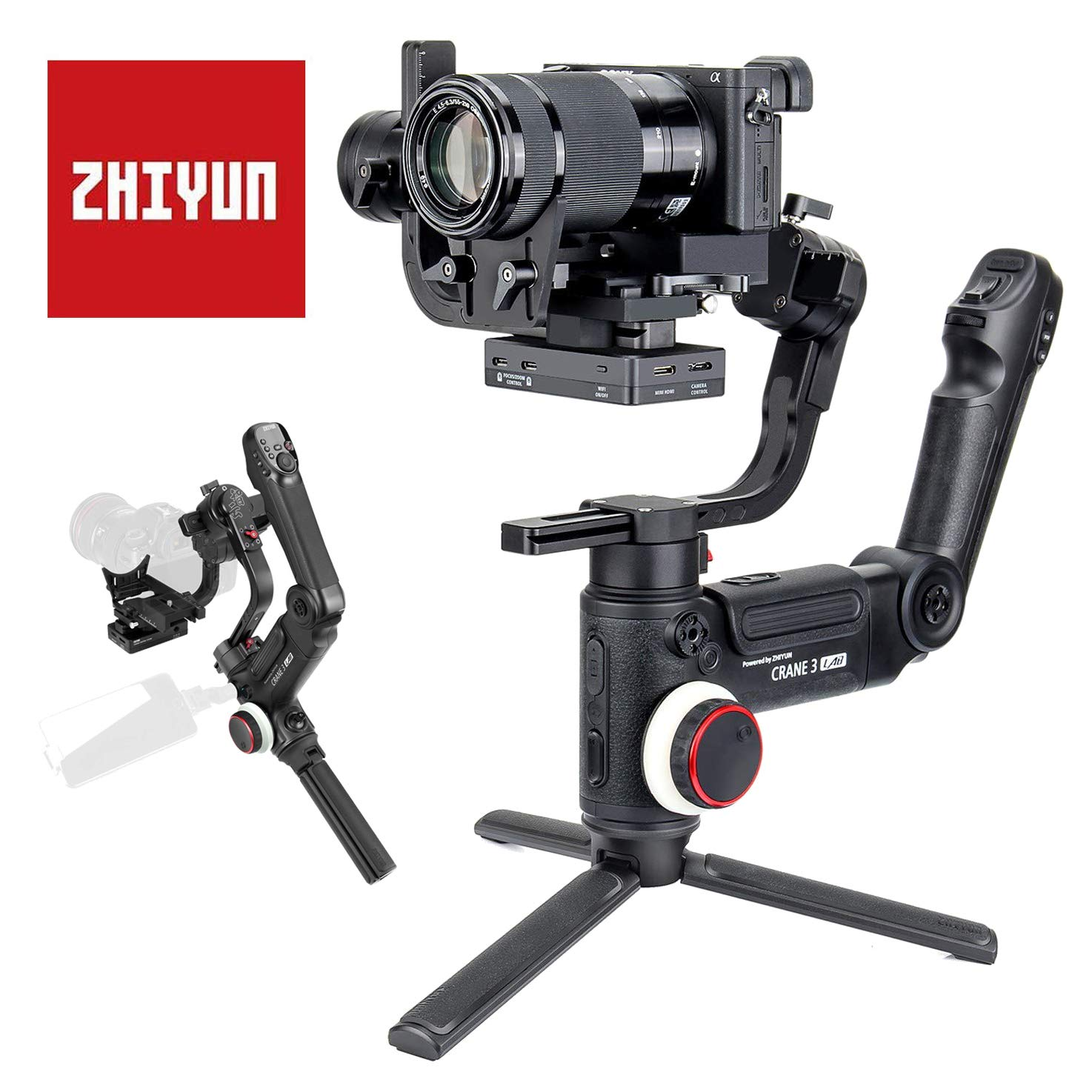 Zhiyun Crane 3 Lab estabilizador Manual de 3 Ejes para cámara ...
