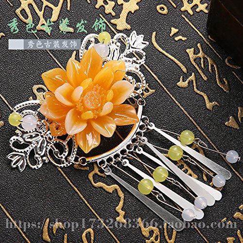 Antique costume hair accessories headdress fringed fish head clip hairpin plate hair accessories Chinese goods retro style family name clothing accessories