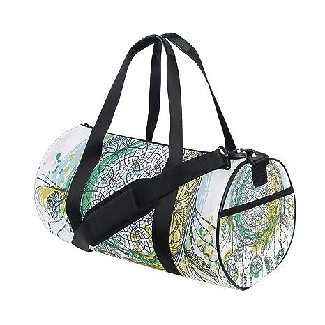 e236ef7b18dc Amazon.com : OuLian Duffel Bag Watercolor Pineapple Blue Women ...