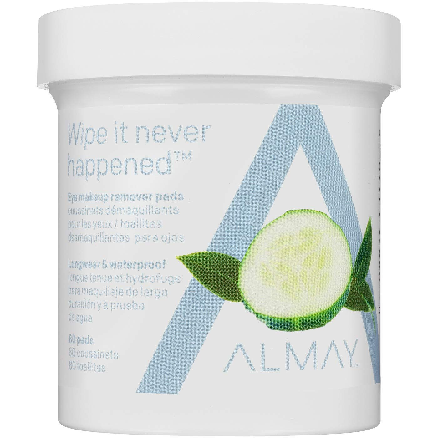 Almay Eye Makeup Remover Pads, Longwear Waterproof 80 ea Pack of 5