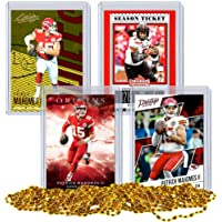 Patrick Mahomes Football Card Bundle, Set of 4 Assorted Kansas City Chiefs and Texas Tech Red… photo