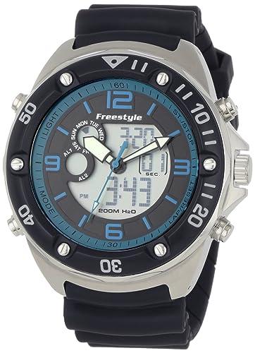 Freestyle Precision 2.0 - Reloj analógico - digital de caballero de cuarzo con correa de goma
