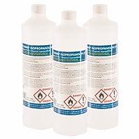 6 x 1 L Isopropanol 99,9% IPA von Höfer Chemie frisch abgefüllt in handliche 1 L Flaschen - perfekt als Lösungsmittel und Fettlöser geeignet