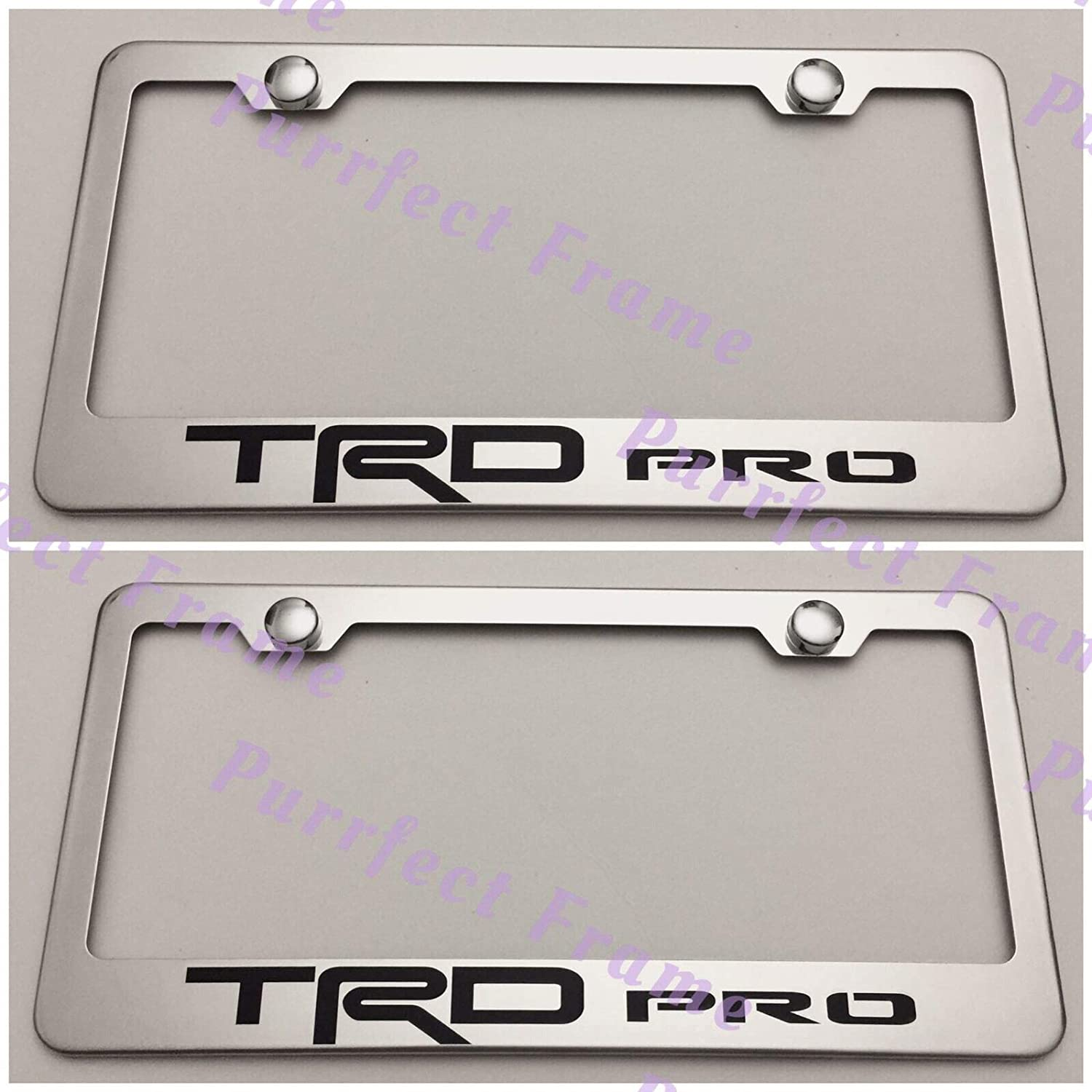 Toyota Tacoma Laser Etched License Plate Frame Stainless Steel Metal TRD