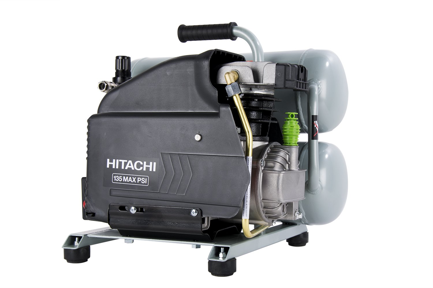 hitachi pancake air compressor. hitachi ec99s 4-gallon portable electric twin stack hot dog air compressor - amazon.com pancake i