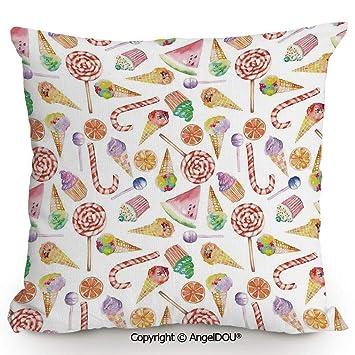 Amazon.com: AngelDOU Fashion Sofa Cotton Linen Throw Pillow ...