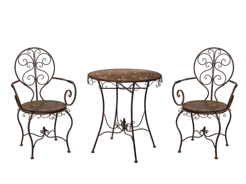 gartenset eisen metall garnitur garten m bel braun antik. Black Bedroom Furniture Sets. Home Design Ideas