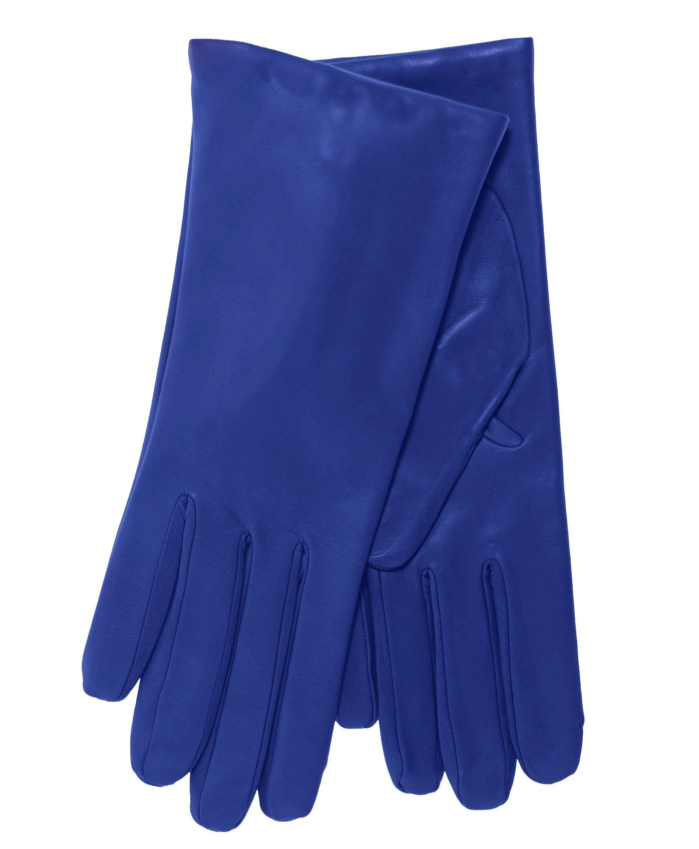 Fratelli Orsini Everyday Women's Italian Cashmere Lined Leather Gloves Size 7 Color Heritage Blue