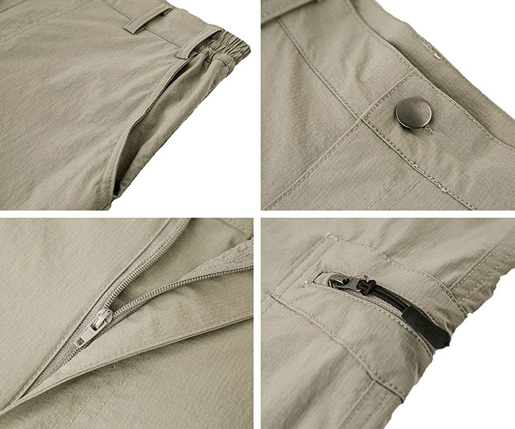 Unitop Mens Lightweight Water Resistant Quick Dry Hiking Cargo Pants