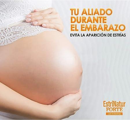 ESTRINATUR FORTE | Gel Antiestrías Nº1 | Previene y Elimina eficazmente las Estrías | Tratamiento ideal para Mujeres Embarazadas, Adolescentes y Deportistas | Fórmula 0% Parabenos – 200 ML