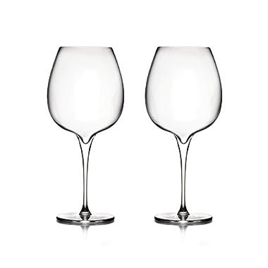 Nambé MT0948 Vie Pinot Noir Wine Glasses, Clear