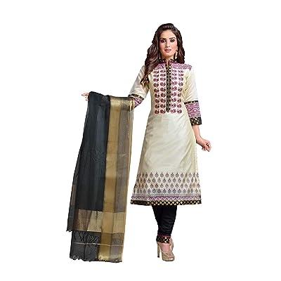 Indian Women Designer Partywear Ethnic Traditonal Off White Salwar Kameez.: Ropa y accesorios