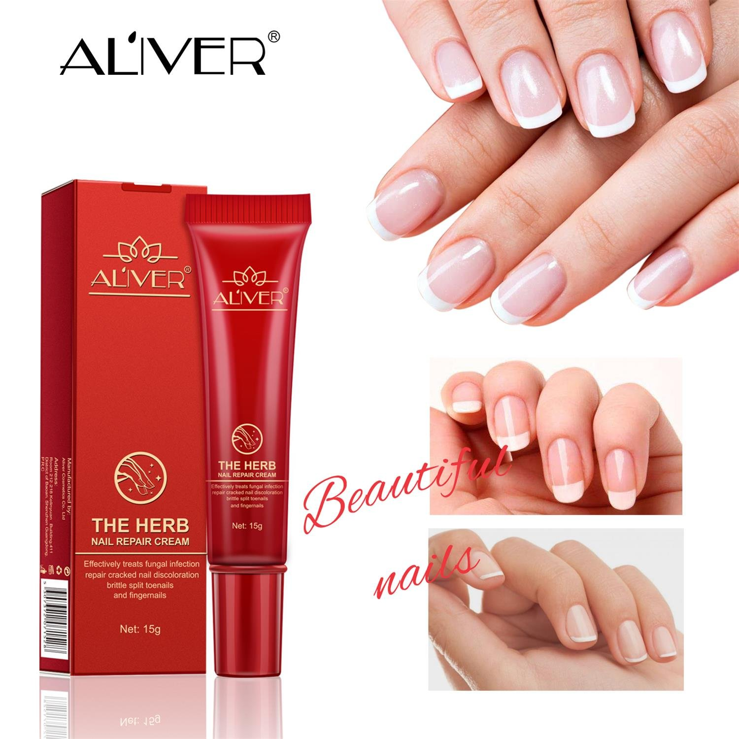 Nail Fungal Treatment, Aliver The Herb Foot Nail Repair Cream Protector, Nail Care Treatment of Anti-Fungal Cream, Effective Against Nail Fungus, Restores the Healthy Appearance of Nails (15g) by ALIVER (Image #7)