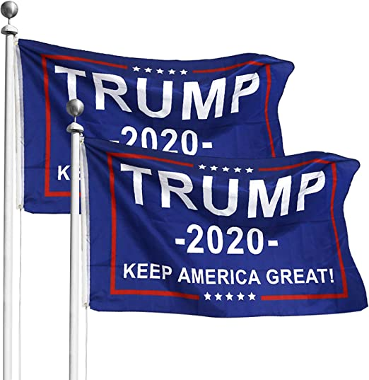 Keep On Trumpin/' Blue 2020 President Trump USA Campaign 3X5 Flag Rough Tex® 100D