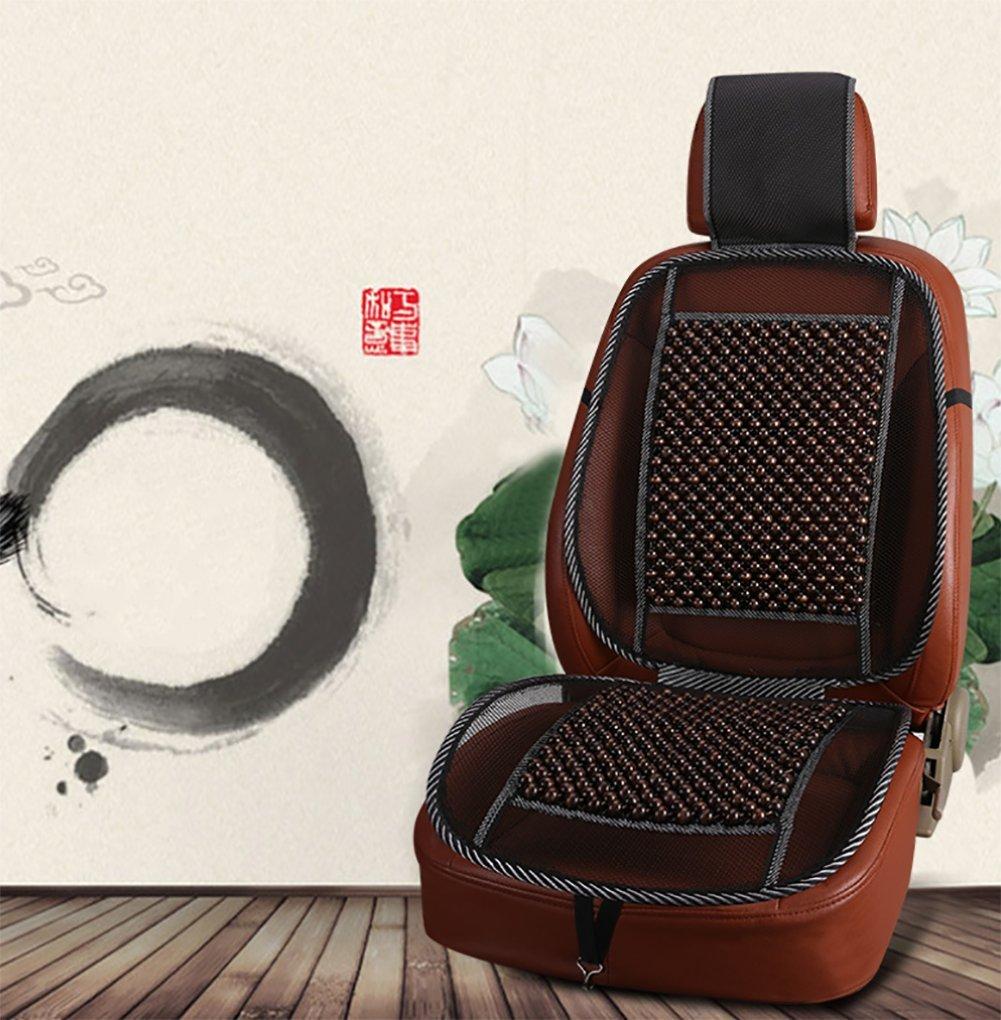 BMDHA Auto Sitzbezug Holzkugeln Atmungsaktiv Gem/ütlich Massage R/ückenst/ütze Erste Reihe Universal Auto Sitzkissen 2 St/ücke