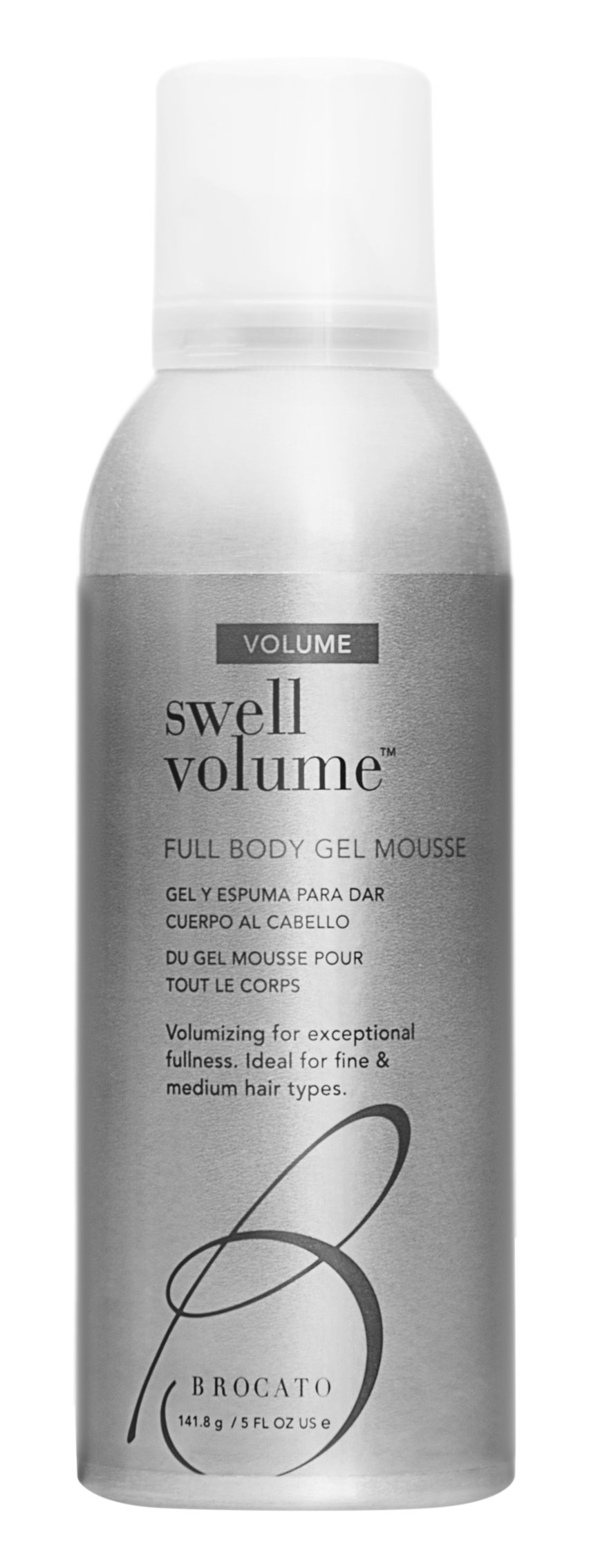 Brocato Swell Volume Gel Mousse: Curl Styling Products for Enhancing and Volumizing Curly or Wavy Hair for Full Body and Shine - Anti Frizz Plumping Mousse for Men or Women - 5 Oz