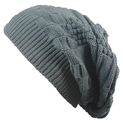 9070b19b16f81 Image Unavailable. Image not available for. Color  Clearance! Men Women Knit  Baggy Beanie Oversize Winter Hat Ski Slouchy Chic ...