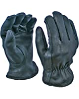 Black Deerskin Gloves with Thinsulate Lining