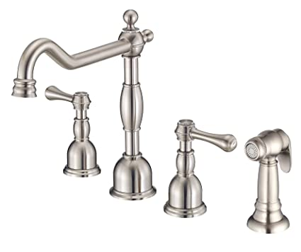 Danze D422257ss Opulence Two Handle Kitchen Faucet With Side Spray