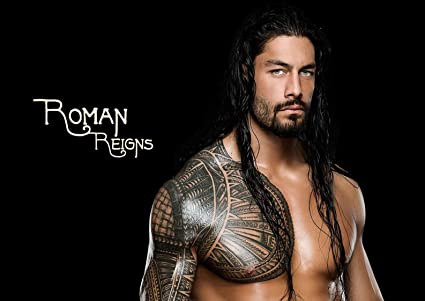 amazon com poster wwe roman reigns new mural wall art posters prints