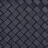 印傳屋(INDEN-YA) 印伝 ラウンドファスナー長財布 2111 網代編[紺×黒]