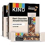 KIND Bars, Dark Chocolate Almond Coconut, Gluten Free, 1.4 Ounce Bars, 24 Count
