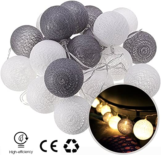 Guirnalda LED, dotbuy interior blanco cálido pila Lumiere ...