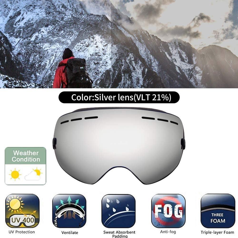 Wind Resistant Winter Snowboard Goggles for Men Women /& Youth Lovne Ski Goggles OTG Design Anti-Glare Lenses Boys /& Girls Snow Goggle Skiing Sport Goggles with Helmet Anti Fog Protection Kids