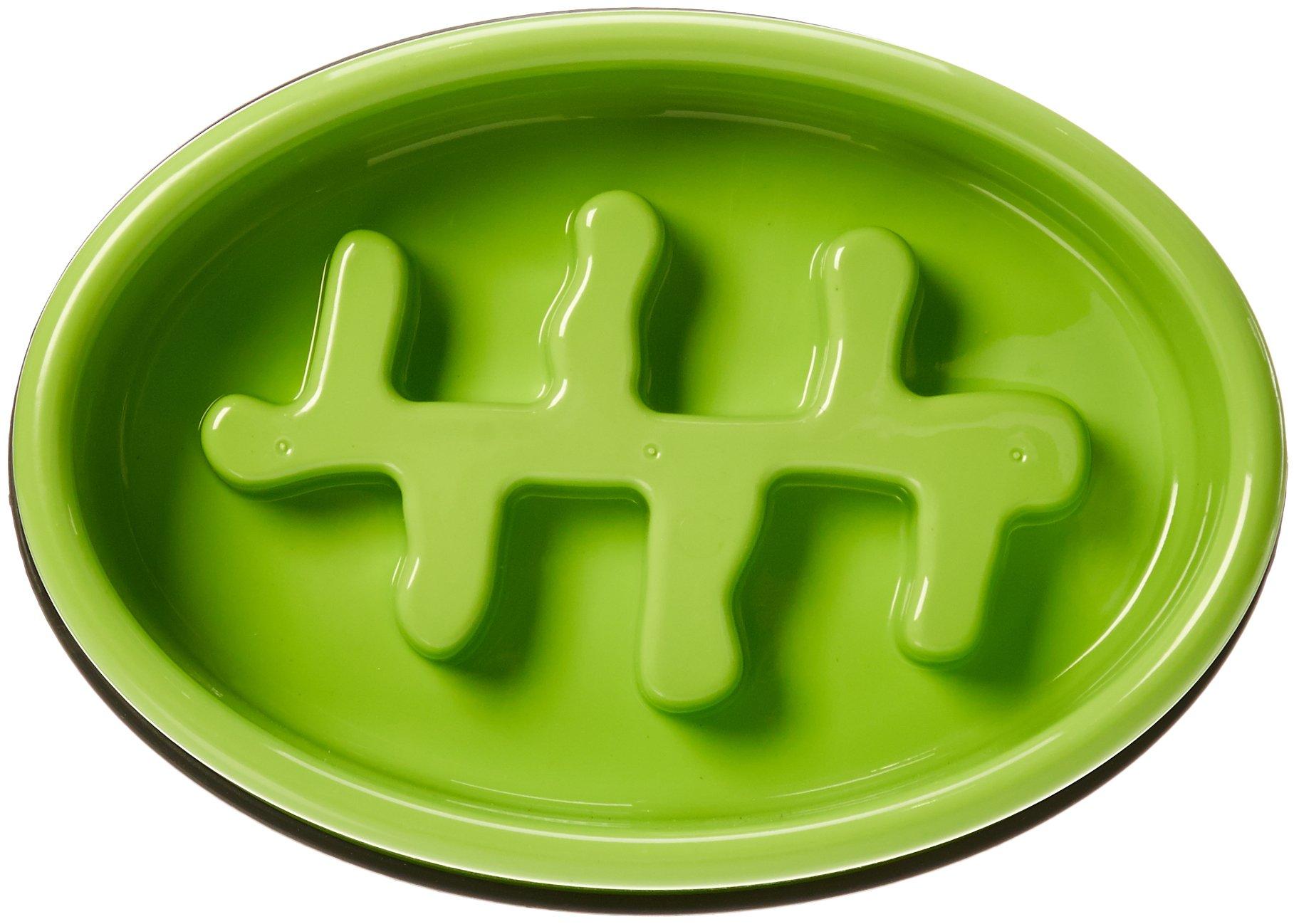 AmazonBasics Dog Slow Feeder Bowl for Anti-Bloating Honeycomb