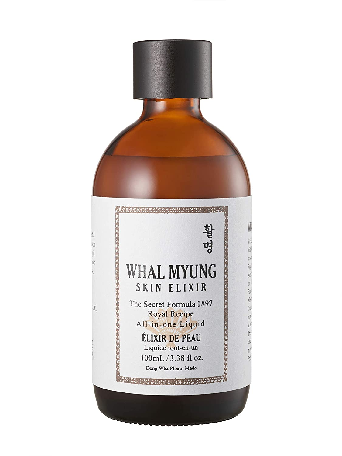 Whal Myung Skin Elixir, All-in-one Face Liquid, Daily Korean Skin Care Routine Clean Beauty, Moisturizer for All Skin Type (3.38 Fl Oz)