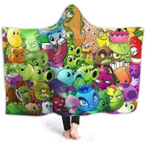 Kids Fleece Hooded Wearable Blanket,Adult Soft and Warm Flannel Throw for Couch Bed 50 X 40 Inch GIFS