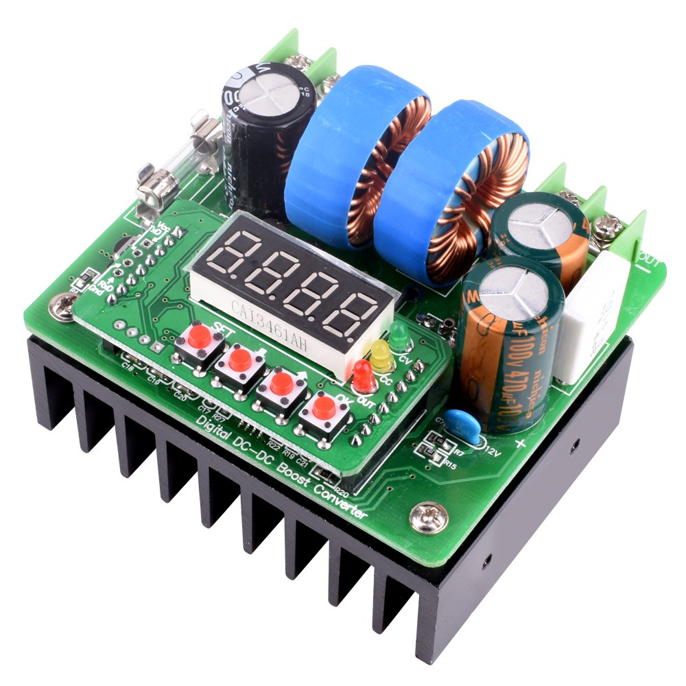 DC/DC Boost Converter, Digital-controlled Power Supply Stabilizers 6V-40V to 8V-80V Step-up Voltage Regulator 400W/10A with LED Display for Laptop and Amp Car QY02 by Longruner (Image #4)