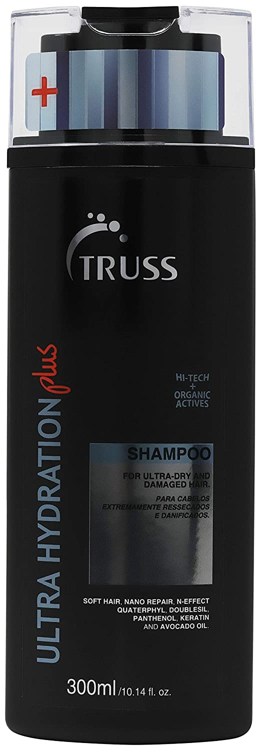 TRUSS Ultra Hydration PLUS Shampoo - Repair Shampoo for Extreme Damage, Chemical Damage, Color Damage, Promotes Deep Hydration, Restores Elasticity, Revitalizes & Adds Body to All Hair Type & Textures