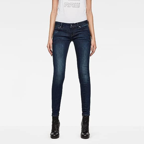 Dark Aged 28W 30L G-Star Women/'s 3301 Low Skinny Jeans Blue