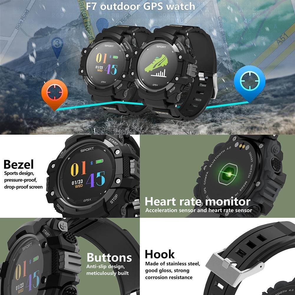 Reloj inteligente deportivo con altímetro/brújula y gps , Smart Watch para la carrera a pie, la senderismo y escalada, IP67 impermeable Monitor de ...